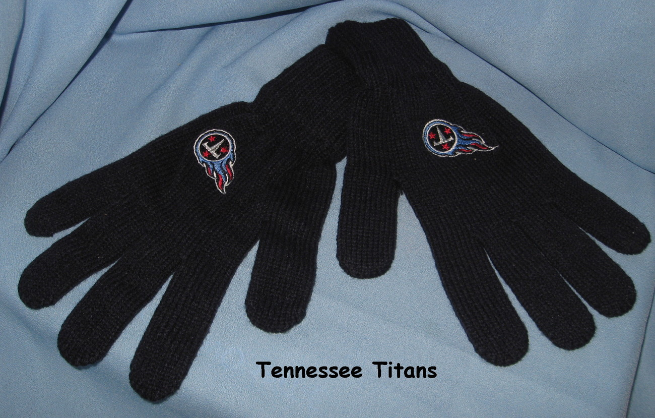 Titans tennessee blue gloves