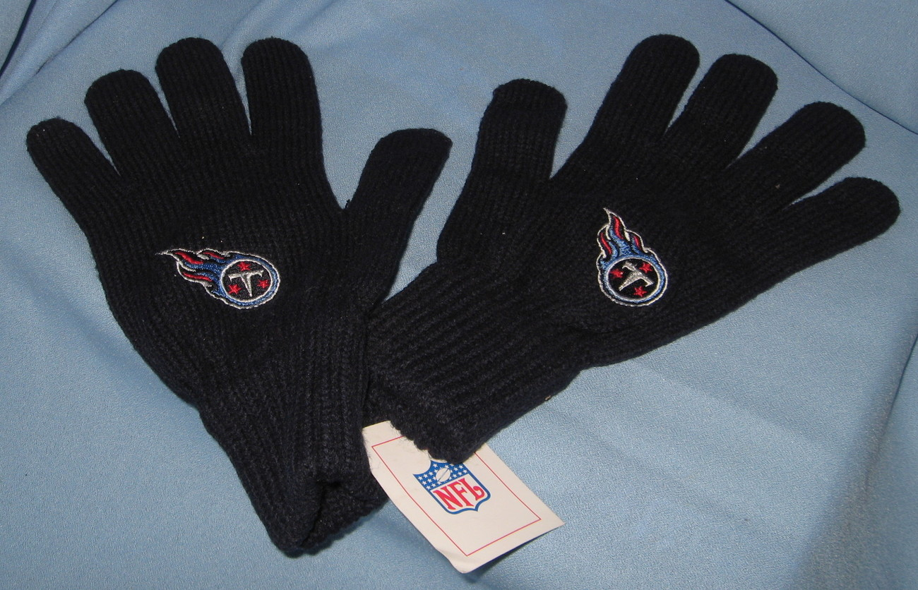 Tennessee Titans Gloves Football Team Logo black adult hand warmer  H14