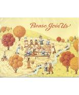 Carlton Thanksgiving Dinner Party 2 set 8 Invitation note cards vintage  G - $16.77