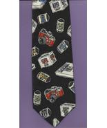 Novel-ties by Roffe Photography Necktie retro 35mm camera film black nec... - $19.77