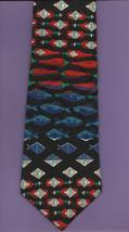 Tabasco Pepper Sauce Logo Neck Tie chillis fish bottles black novelty ne... - $24.77