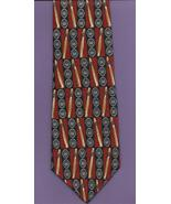 MBP Cigars Neck Tie brown silk smoker novelty artsy casual retro necktie N1 - $17.77