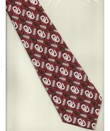 Eagles Wings Oklahoma Sooners logo print Neck Tie university red necktie N1 - $19.77