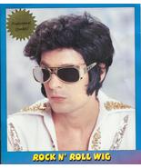 Rock and Roll Costume Wig one size Elvis black washable halloween party H20 - $11.77