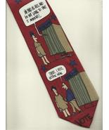 TEE HEE Voters Neck Tie red modern election day novelty unisex print nec... - $29.77