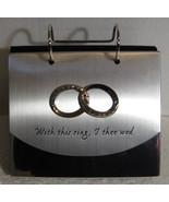 Malden Wedding Photo Album entertwined rings silver brag book momento gi... - $9.77