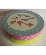 Rosanna Salad Plates boxed set 4 Ladies Shoes blue pink purple yellow gi... - $57.77