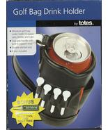 Totes Golf Bag Drink Holder Cooler divot tool tees Black golfer gag gift... - $19.77