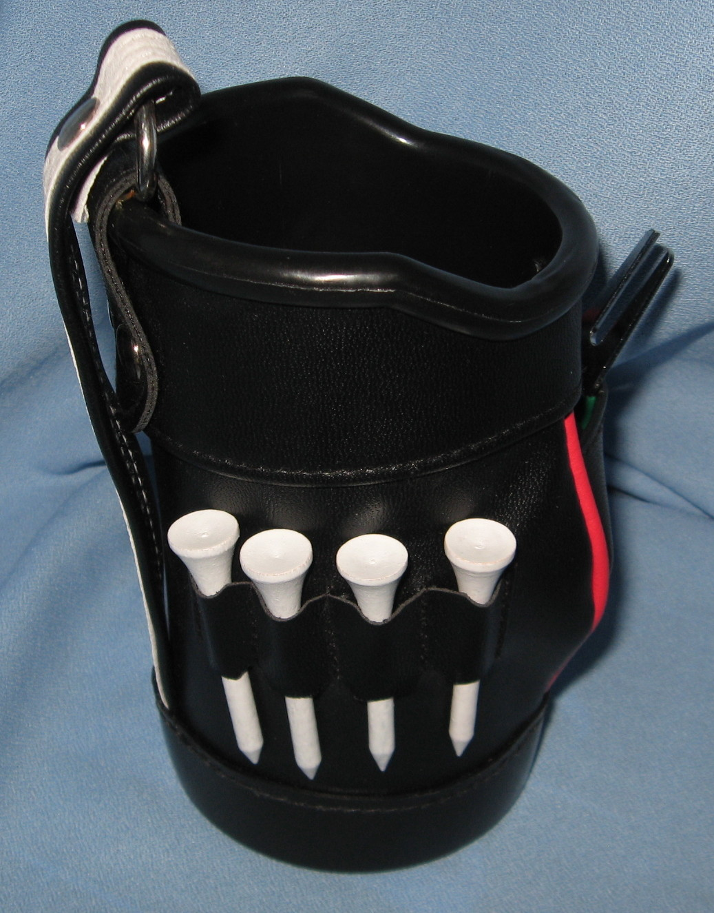 Totes Golf Bag Drink Holder Cooler divot tool tees Black golfer gag gift  H16