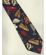 AXESSORIUM Neck Tie novelty casual colorful blue silk necktie graphic ti... - $21.77