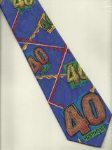 Old Tie Mer Neck Tie purple novelty 40 Happens gag  Birthday casual neck... - $19.77