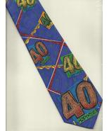 Old Tie Mer Neck Tie purple novelty 40 Happens gag  Birthday casual neck... - $15.77