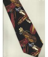 Nicole Miller Golf Bags 1994 black Silk clubs sports retro novelty neckt... - $29.77