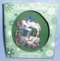 2008 Steam Engine Christmas tree metal ornament holiday USA Gloria Duchi... - $11.77