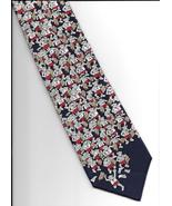Alynn Neckwear Rat Race Neck Tie blue silk novelty retro office necktie N3 - $17.77