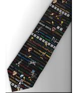 Looney Tunes Computer Language Neck Tie words novelty Taz Daffy Bugs Twe... - $17.77