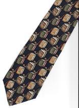 Hathaway Lawyer Neck Tie silk Attorney gavel books novelty brown blue ne... - $19.77