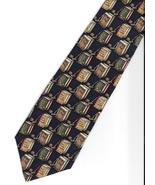 Hathaway Lawyer Neck Tie silk Attorney gavel books novelty brown blue ne... - $17.77