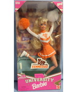 Mattel Barbie Doll University Tennessee Cheerleader 1997 orange white  H28 - $47.77