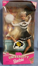 Mattel Barbie Doll University Colorado Cheerleader 1996 black  white uni... - $47.77