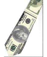 Tolstoy One Hundred Dollar Bill  Neck Tie gag grad gift novelty necktie N3 - $19.77