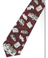 City One Home Mortgage Neck Tie burgundy Realtor house sale broker neckt... - $24.77