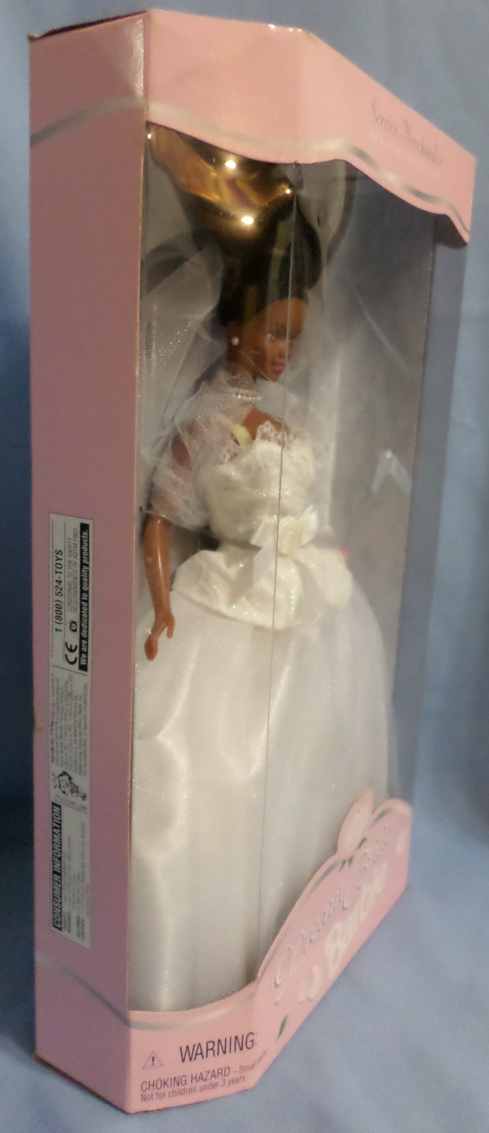 Mattel Barbie Doll Dream Bride 1996 African American  white wedding costume