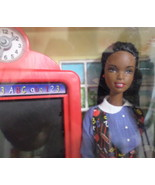 Mattel Barbie Doll Teacher  African American blue white dress school bac... - $49.77