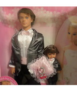 Mattel Barbie Ken Groom Ring Bearer Doll  2006 black white wedding suit ... - $97.77