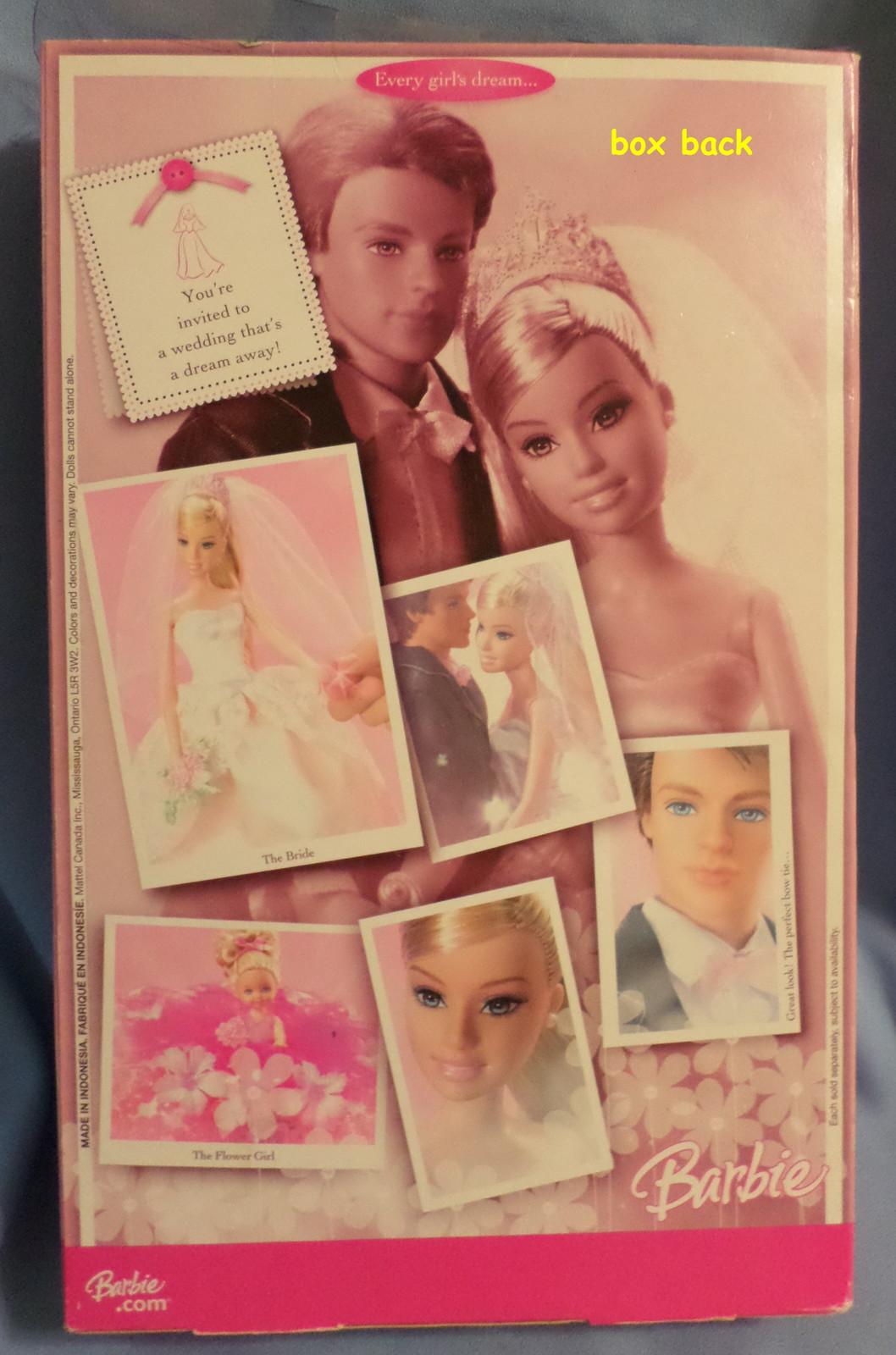 Mattel Barbie Ken Groom Ring Bearer Doll  2006 black white wedding suit backdrop