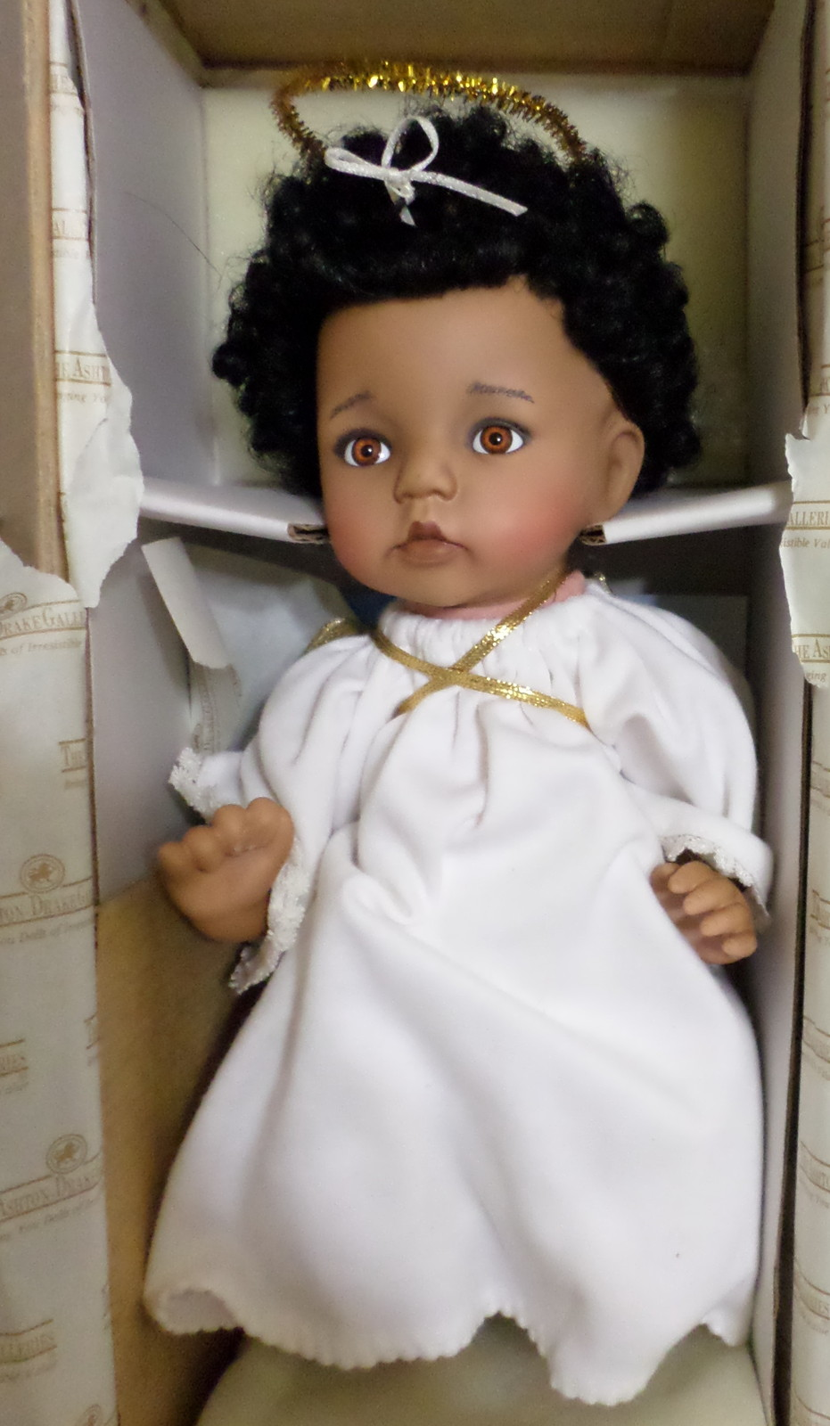 Ashton drake galleries angel face baby doll 1994 african for The ashton