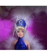 Totsy Showgirl fashion Doll blonde blue sequin feather outfit Las Vegas ... - $29.77