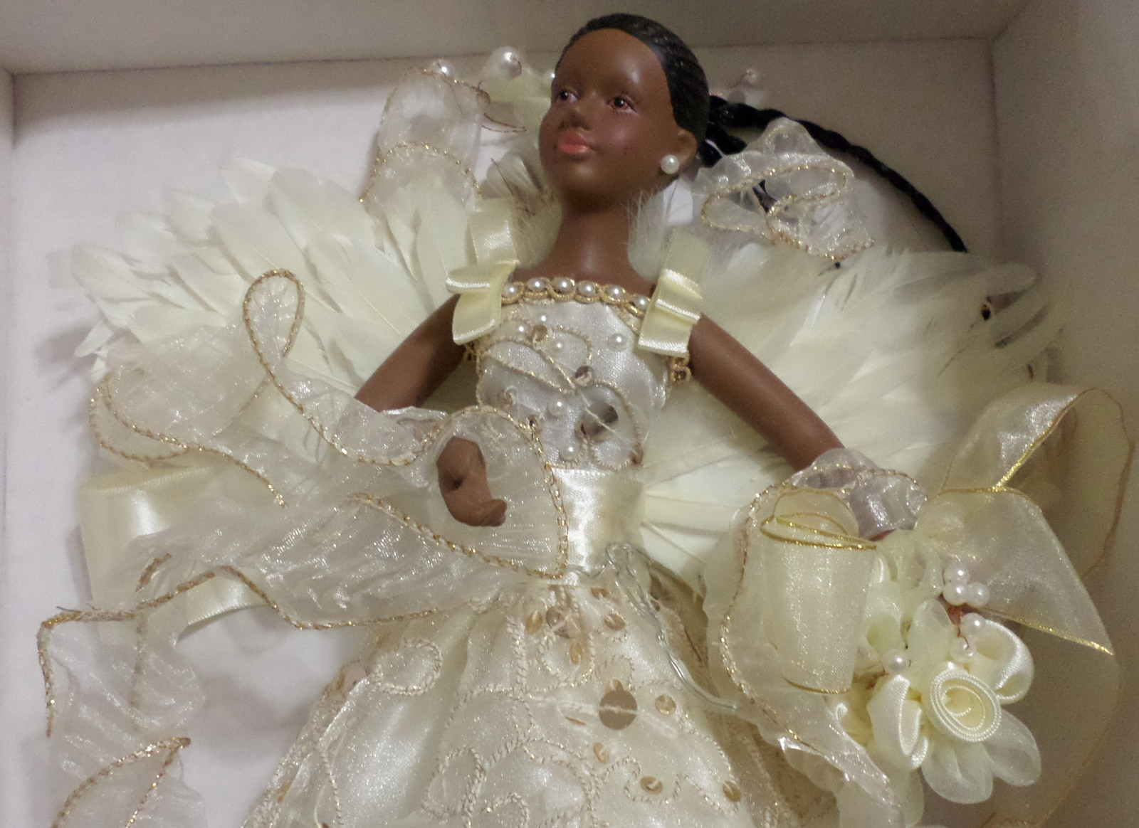 Dillard's  Store Angel Doll treetopper African American mantle decor Christmas