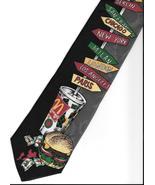 McDonald's Neck Tie 1994 multi-color burger drink road signs novelty nec... - $37.77