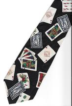 Tabasco Pepper Sauce Playing Cards Neck Tie logo novelty Silk gambler ne... - $27.77