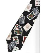 Tabasco Pepper Sauce Playing Cards Neck Tie logo novelty Silk gambler ne... - $29.77