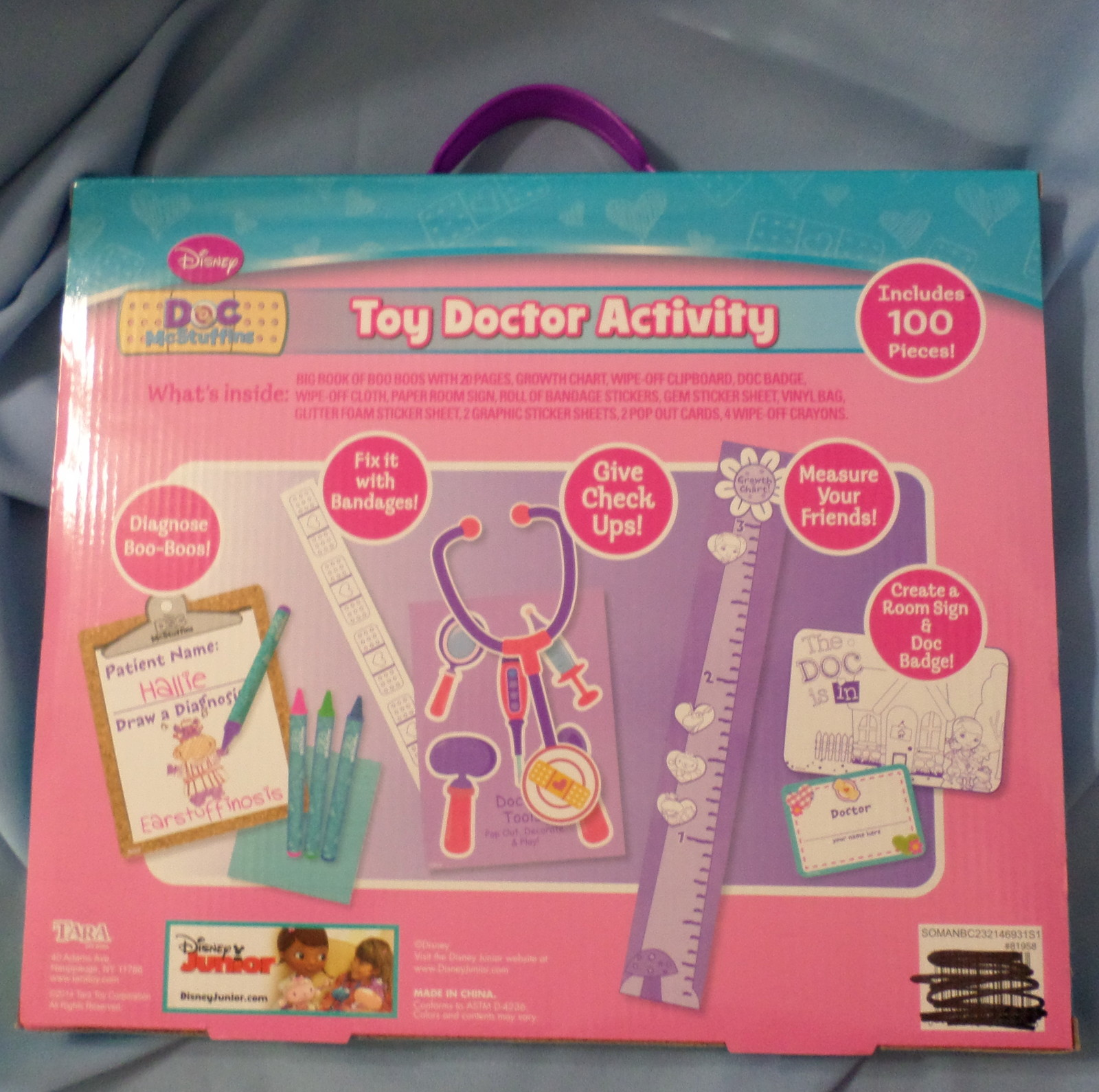 Disney Doc McStuffins Toy Doctor Activity Kit 2014 unisex age 3+ play set H27
