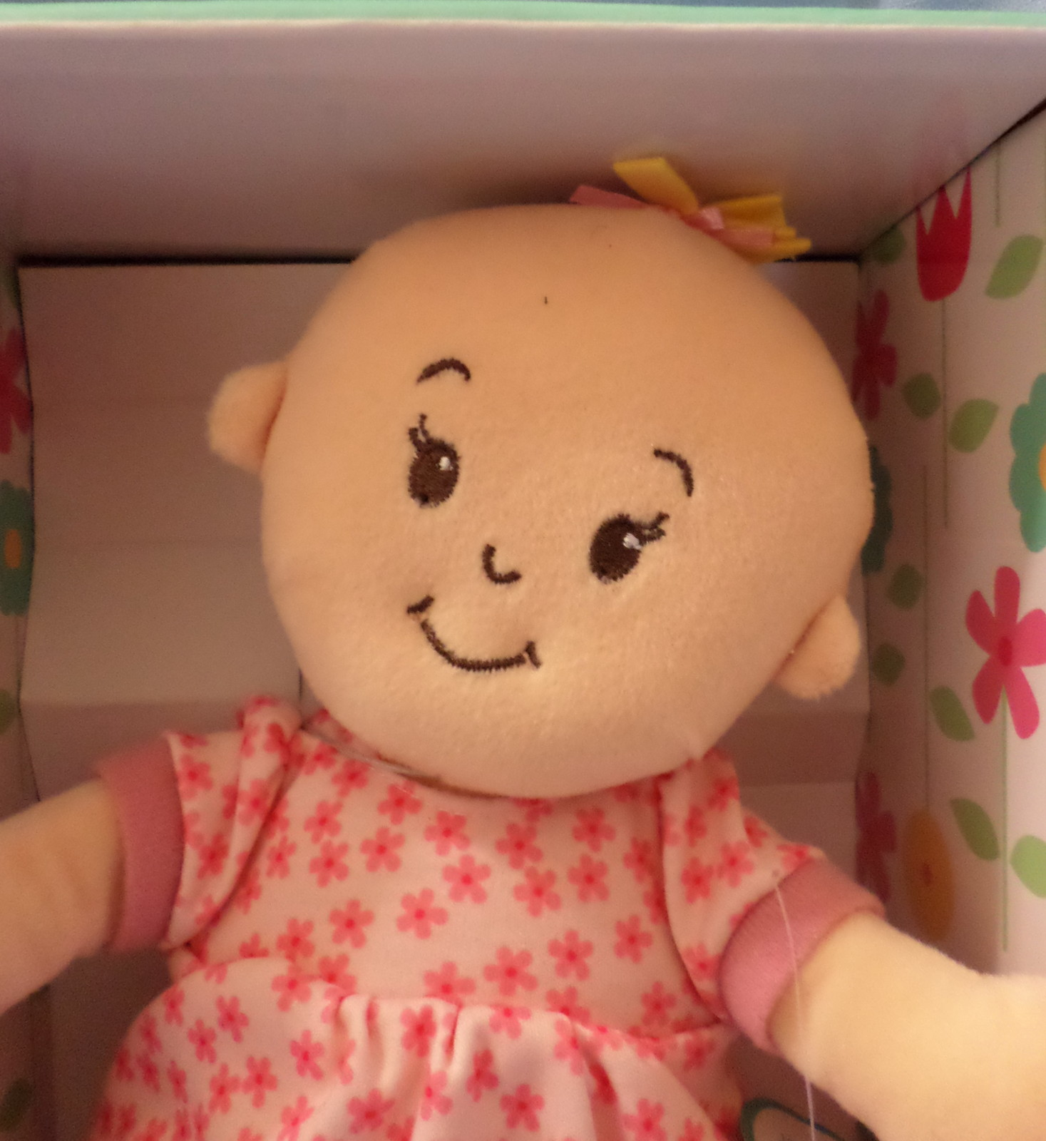 Wee Baby Stella 2014 girl Doll soft Manhattan Toy Co bald