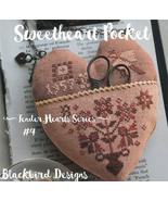 Sweetheart Pocket #4 Tender Heart Series cross stitch chart Blackbird De... - $9.00