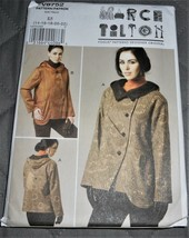 Pattern Vogue Designer Jacket Asymmetrical Fronts March Tilton V8752 Uncut - $14.35