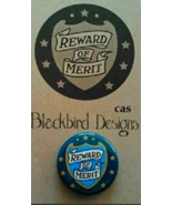 Reward of Merit Pin LIMITED EDITION cross stitch Blackbird Designs - $4.00