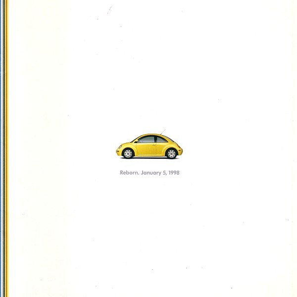 Primary image for 1998 Volkswagen NEW BEETLE Intro sales brochure catalog 98 VW