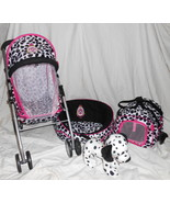 HAUCK Bella Beau 4 Piece Pet Stroller, Dog Bed, Pet Carrier and Dalmatia... - $69.95