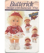 Baby Face Doll Clothes Pattern withTransfer Butterick 5742 - $13.84