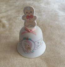 Precious Moments Bell 1993 Wishing You The Sweetest Christmas - $10.88
