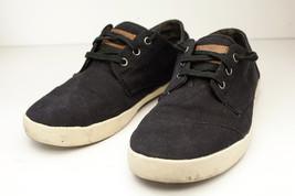 TOMS 9.5 Black Canvas Lace Up Shoe Mens - $34.50