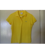 IZOD LACOSTE WOMEN'S SHORT SLEEVE COLLARED YELLOW POLO SHIRT - SIZE 40 - $29.99