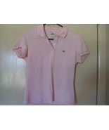 IZOD LACOSTE WOMEN'S SHORT SLEEVE COLLARED PINK POLO SHIRT - SIZE 40 - $29.99