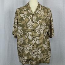 Hilo Hattie Men Short Sleeve Hawaiian Palm Made in Hawaii Shirt Sz XL EUC - $23.38