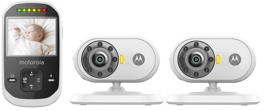 motorola mbp25 2 wireless video baby monitor with 2 cameras and 2 4 inch lcd col surveillance. Black Bedroom Furniture Sets. Home Design Ideas